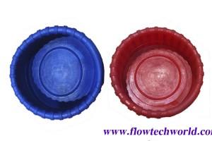 ยางหุ้มหัวเกจ์ ยางสีฟ้า-แดง (รูปเฟือง) จำหน่ายเป็นคู่