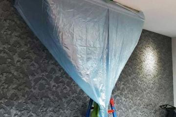 ผ้าใบล้างแอร์ แบบกรวย คละสี ขนาด 2×3 และ 3×4 เมตร