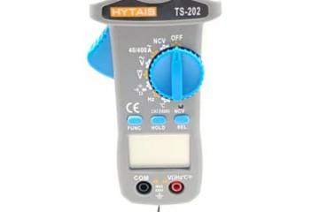 คลิปแอมป์มิเตอร์ ยี่ห้อ HYTAIS รุ่น TS-202 วัดได้ทั้งกระแสไฟ AC/DC